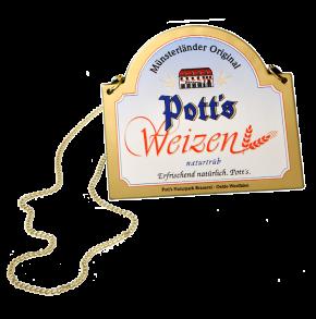 Zapfhahnschild Weizen